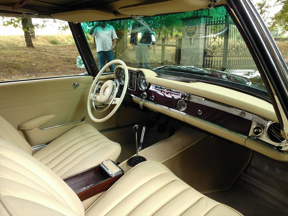 Mercedes 230 SL W113, Pagoda, bordó (1965)