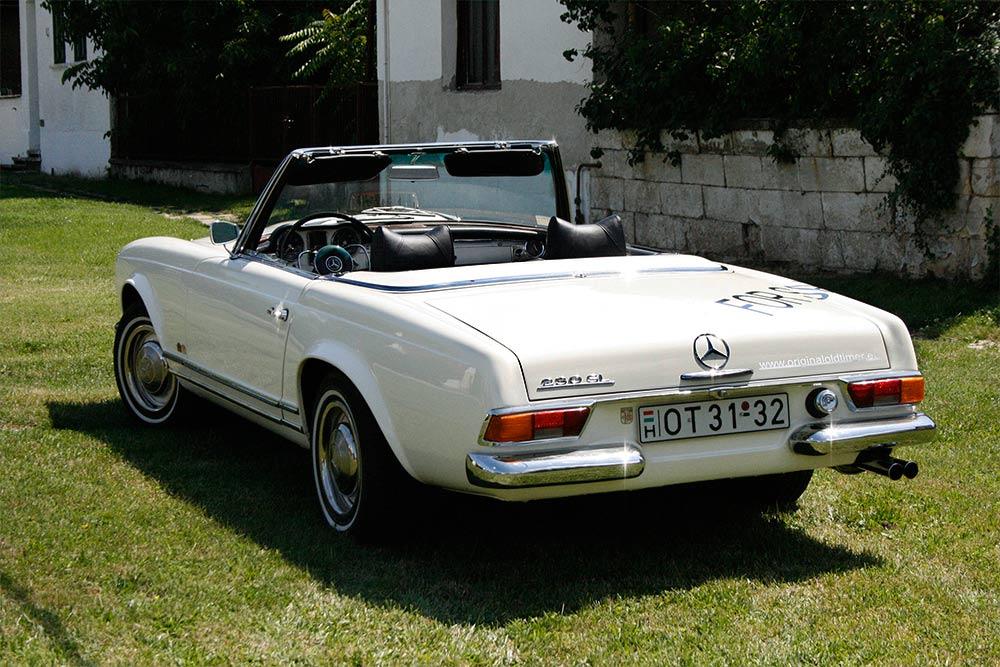 Mercedes 230 SL W113, Pagoda, fehér (1965)